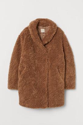 H&M Faux Fur Teddy Bear Coat