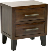 Asstd National Brand Christopher Knight Home Brighton Acacia Wood 2-Drawer Nightstand