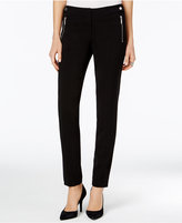 MICHAEL Michael Kors Zip-Pocket Straight-Leg Pants