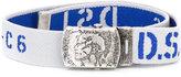 Diesel logo print belt - kids - Polyester/Spandex/Elastane/metal - 58 cm