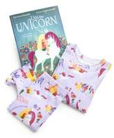 "Books To Bed Toddler's & Little Girl's Three-Piece ""Uni The Unicorn"" Pajamas & Book Set"