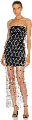 Paco Rabanne Net Chain Dress in Silver | FWRD