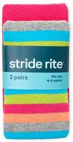 Stride Rite Girls 4-6x) Multi-Stripe Tights