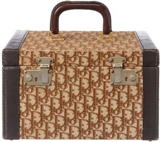 Christian Dior Brown Canvas Vanity Bag