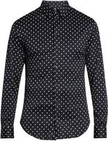 Giorgio Armani Micro-geometric print cotton-jersey shirt