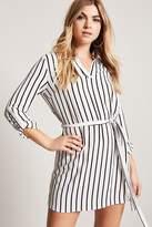 Forever 21 Belted Stripe Shirt Dress