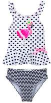 Flapdoodles Flamingo Dot 2-Piece (Toddler Girls)