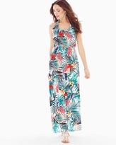 Soma Intimates Halter Maxi Dress Palmscape Ivory RG