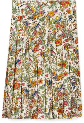 Tory Burch Printed Pleated Skirt