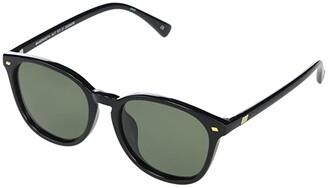 Le Specs Bandwidth Alt Fit (Black/Khaki Mono Polarized) Fashion Sunglasses