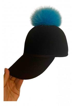 CHARLOTTE SIMONE Black Wool Hats