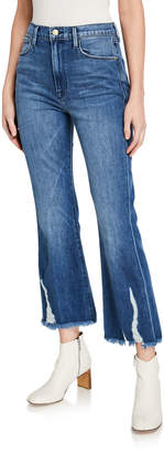 Frame Le Crop Flare Jeans with Raw Bottom