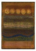 """Oriental Weavers Kharma II 7'10"""" x 11' Machine Woven Rug in Gold"""