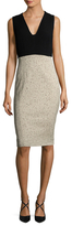 Narciso Rodriguez Jacquard Contrast Sheath Dress