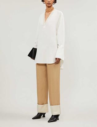 Joseph Miller silk-crepe de soie blouse
