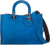Christian Dior Blue Suede Grand Sac Diorissimo