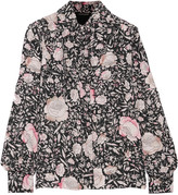 Jill Stuart Cecilie printed washed-silk shirt
