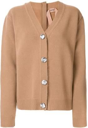 No.21 embellished back zip cardigan
