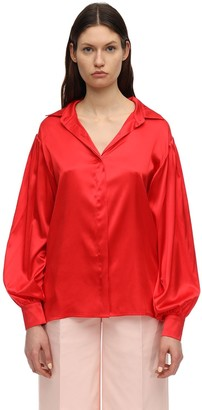 Lesyanebo Silk Satin Shirt