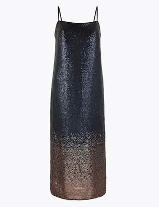 M&S CollectionMarks and Spencer Sparkly Slip Midi Dress