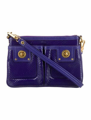 Marc by Marc Jacobs Patent Leather Crossbody Bag Purple
