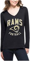 '47 Women's Los Angeles Rams Splitter Arch Long-Sleeve T-Shirt