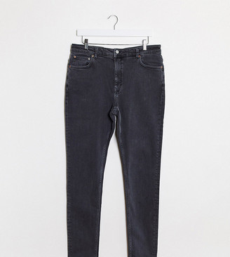 Weekday Thursday organic cotton high waist skinny jeans in night black