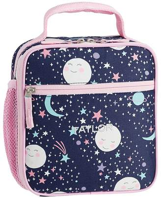 Pottery Barn Kids Mackenzie Pink Navy Glow-in-the-Dark Moons Lunch Boxes
