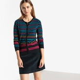 La Redoute Collections Striped Crew-Neck Cardigan