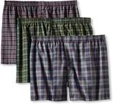 Fruit of the Loom Men's 3Pack Plaid Boxer Shorts Boxers Underwear 5XL
