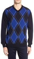 Bugatchi Men's Argyle Wool Sweater