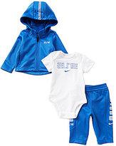 Nike Baby Boys Newborn-6 Months Hoodie, Pants, and Bodysuit Set