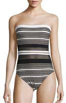 Gottex Swim Regatta Bandeau Striped One-Piece Swimsuit