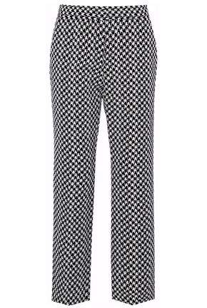 Derek Lam Houndstooth Jacquard Straight-Leg Pants