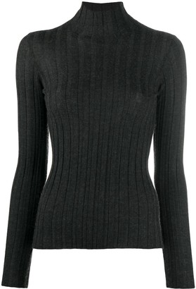 Lamberto Losani Roll-Neck Cashmere Fitted Top