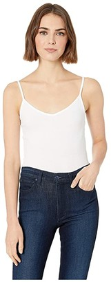 BCBGeneration V-Neck Cami Sleeveless Knit Top (Optic White) Women's Clothing