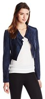 BCBGMAXAZRIA Women's Norton Contrast Back Draped Jacket