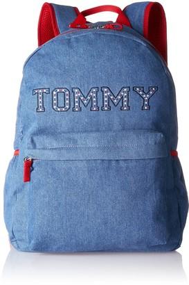 Tommy Hilfiger Denim Backpack Girls Blau (Denim Stars) 12.5x40x29 cm (B x H T)