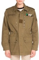 Saint Laurent Love-Patch Field Jacket, Khaki