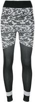 adidas by Stella McCartney floral print leggings - women - Nylon/Polyester/Spandex/Elastane - XS