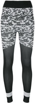 adidas by Stella McCartney Run printed tights - women - Nylon/Polyester/Spandex/Elastane - XS