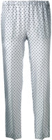 Alberto Biani polka dot trousers - women - Silk - 40