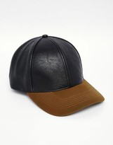 Asos Baseball Cap In Black And Khaki