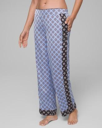 Soma Intimates Satin Pajama Pants with Contrast Band