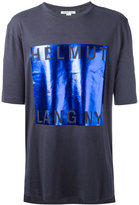 Helmut Lang metallic square T-shirt - men - Cotton/Modal - M