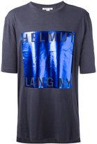 Helmut Lang metallic square T-shirt - men - Cotton/Modal - XS