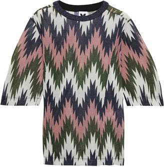 M Missoni Metallic Pritned Stretch-jersey T-shirt