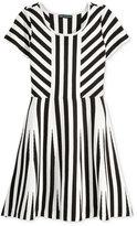Sequin Hearts Knit Striped Skater Dress, Big Girls (7-16)