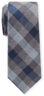 Michael Kors Grey Tricolor Check Tie