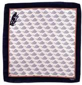 Black 'Smoky Monkey' Italian Silk Pocket Square
